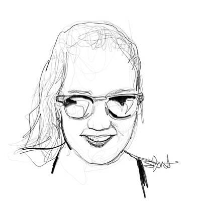 Sunglasses Digital Art - Laura by Stephanie Fonteyn