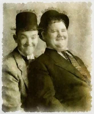 Laurel And Hardy Art Print by Esoterica Art Agency