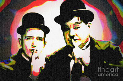 Painting - Laurel And Hardy - Pop Art by Ian Gledhill