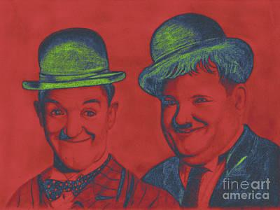 Andywarhol Painting - Laurel And Hardy Pop Art Simple by Felix Von Altersheim