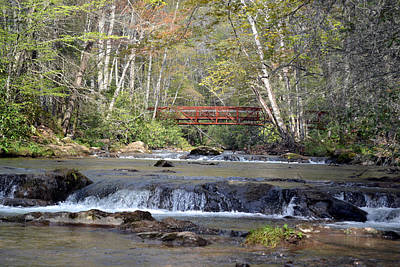 Photograph - Laurel Creek Footbridge Va by rd Erickson