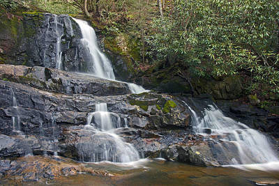 Laurel Falls In Great Smoky Mountains National Park Art Print by Brendan Reals