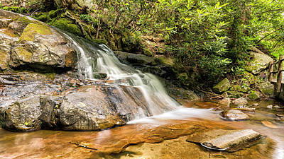 Mountain Laurel Photograph - Laurel Falls by Stephen Stookey