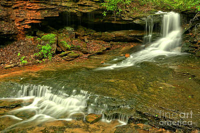 Photograph - Laurel Highlands Cave Falls by Adam Jewell