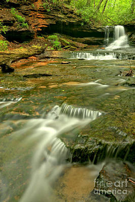 Photograph - Laurel Highlands Waterfall Portrait by Adam Jewell