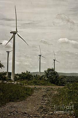 Laurel Ridge Farm Photograph - Laurel Ridge Windmills by Tom Gari Gallery-Three-Photography