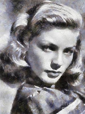 Lauren Bacall By Sarah Kirk Art Print