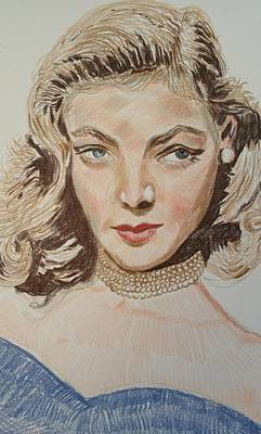 Lauren Bacall Painting - Lauren Bacall  by Charles Paine