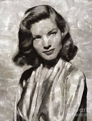 Lauren Bacall Painting - Lauren Bacall, Hollywood Legend By Mary Bassett by Mary Bassett