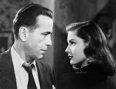 Lauren Bacall Humphrey Bogart Film Noir Classic The Big Sleep 2 1945-2015 Art Print