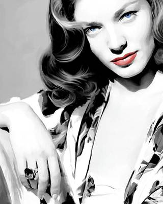 Lauren Bacall Large Size Portrait 2 Art Print