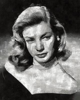 Celebrities Royalty-Free and Rights-Managed Images - Lauren Bacall by Mary Bassett