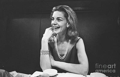 Bacall Photograph - Lauren Bacall by The Harrington Collection
