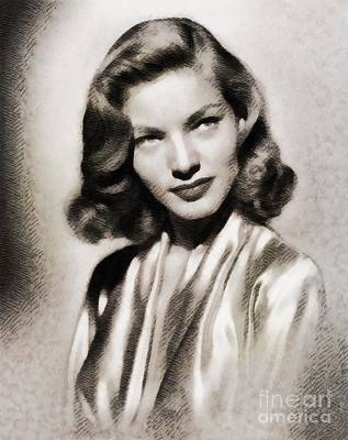 Lauren Bacall Painting - Lauren Bacall, Vintage Actress by John Springfield