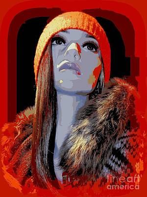 Digital Art - Lauren In Orange by Ed Weidman
