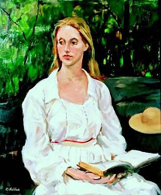 Painting - Lauren K. Posing In Central Park by Robert Holden