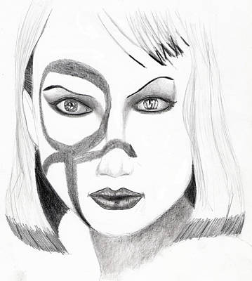 Drawing - Lauren by Michael McKenzie