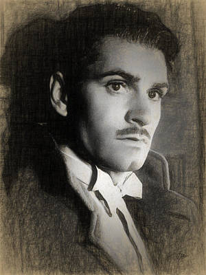 Laurence Drawing - Laurence Olivier by Quim Abella
