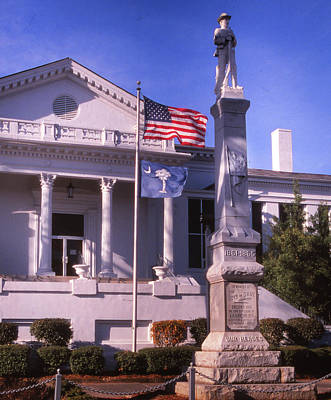 Photograph - Laurens County Courthouse by Samuel M Purvis III