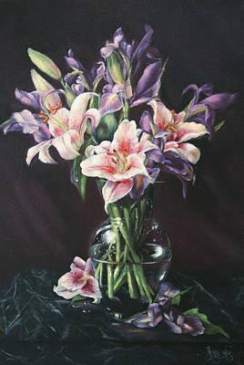 Laurette' Lillies Art Print by Michelle Kerr