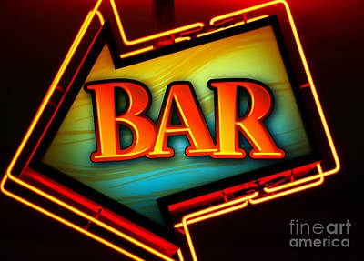 Bar Scene Photograph - Laurettes Bar by Barbara Teller