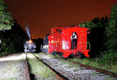 Photograph - Laurinburg Southern Caboose 20 Color by Joseph C Hinson Photography