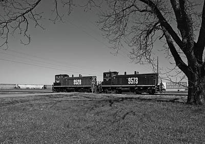 Photograph - Laurinburg Southern Sw1500 B W 1 by Joseph C Hinson Photography