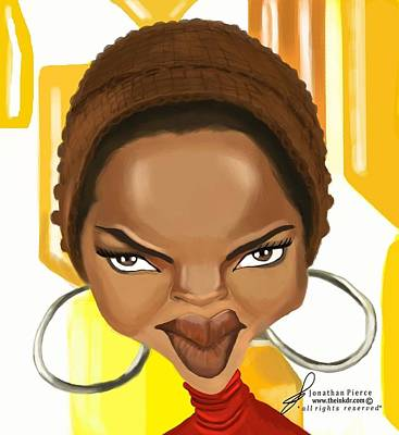 Lauryn Hill Painting - Lauryn Hill Caricature by Jonathan Pierce