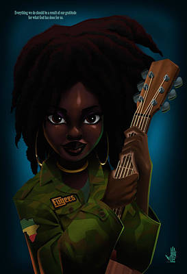 Digital Art - Lauryn Hill by Nelson Dedos Garcia