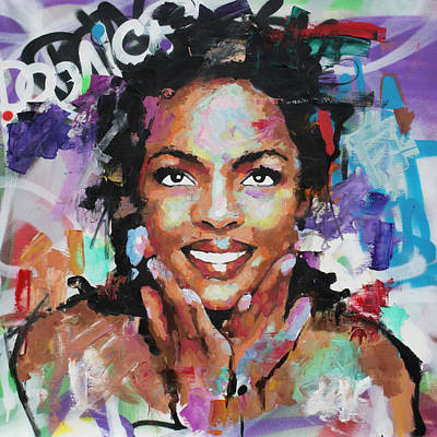 Painting - Lauryn Hill by Richard Day