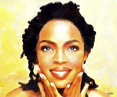 Painting - Lauryn Hill by Wayne Pascall