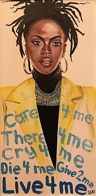 Painting - Lauryn Hill's Ex-factor by Sean Ivy aka Afro Art Ivy