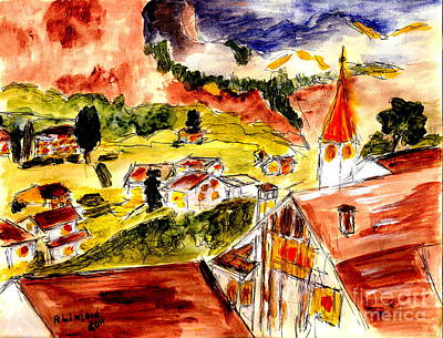 Painting - Lauterbrunnen 3 by Richard W Linford