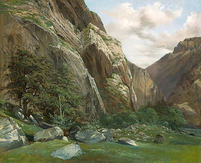 Painting - Lauterbrunnen by Alexandre Calame