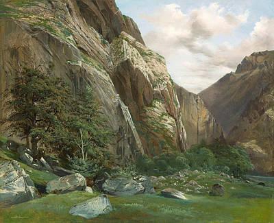 Painting - Lauterbrunnen by Alexandre Calame