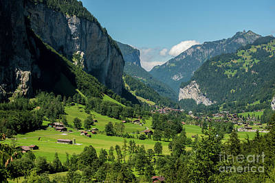 Lauterbrunnen Mountain Valley - Swiss Alps - Switzerland Art Print by Gary Whitton