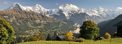 Wengen Photograph - Lauterbrunnen Valley With Mt Eiger, Mt by Panoramic Images