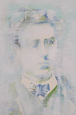Comte Painting - Lautreamont - Watercolor Portrait.3 by Fabrizio Cassetta