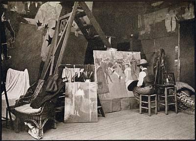 Studio Drawing - Lautrec In His Studio Rue Caulaincourt by Vintage Design Pics