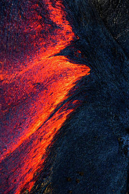 Photograph - Lava Abstract by James Roemmling