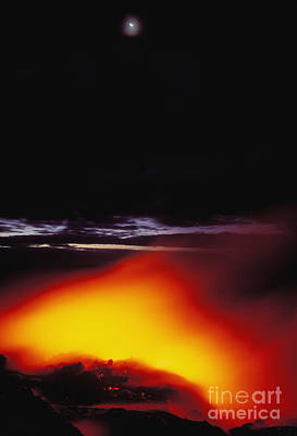 Lava And Moon Art Print by William Waterfall - Printscapes