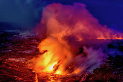 Photograph - Lava And Ocean At Dawn by Allen Biedrzycki