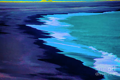 Digital Art - Lava Beach by Rick Bragan