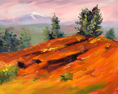 Sunriver Painting - Lava Butte by Nancy Merkle