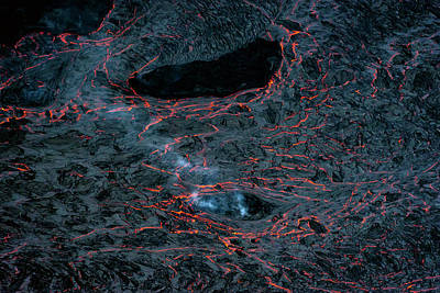 Pele Wall Art - Photograph - Lava Cracks by Christopher Johnson