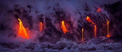 Photograph - Lava Drips by James Roemmling