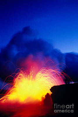Photograph - Lava Explodes by Greg Vaughn - Printscapes