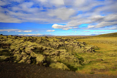 Photograph - Lava Fields Of Iceland by Allan Levin