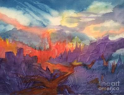 Painting - Lava Flow Abstract by Ellen Levinson