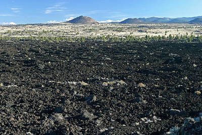 Photograph - Lava Flow And Schonchin Butte, Lava Beds Nm, California, Usa by Robert Mutch